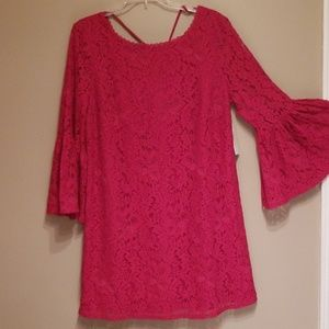 Laundry red lace dress